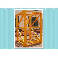 Steel Building Crane Mast Section , Mast Tower Crane Model Climbing Platform