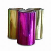 Wholesale Hot Stamping Foils for Paper, with 12 Micron Thickness, Various Colors and Sizes are Available from china suppliers