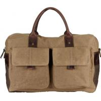 Wholesale Waxed Cotton Canvas Messenger bag , 2 slip pocket / detachable shoulder strap from china suppliers