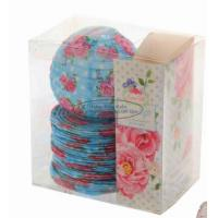 Wholesale Red Battery Operated Lantern String Lights Paper Material With Rose Flower Patterned from china suppliers