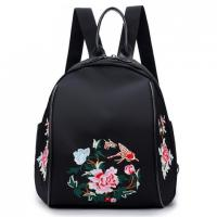 Wholesale Nylon Embroidery Double Shoulder Bag Female Korean Version of The New Fashion Oxford Cloth Tourism shoulder bag backpack from china suppliers