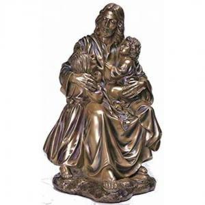 Wholesale Garden Metal sculpture Jesus & children bronze statues,customized bronze statues, China sculpture supplier from china suppliers