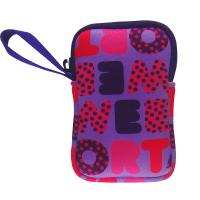 Wholesale wrist strapped cute neoprene wallet purse bag for girls. Full color printed camera case from china suppliers
