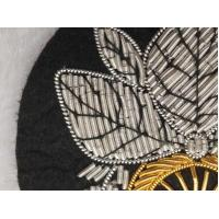 Gold Silver Handcraft Wire Embroidered Badges Sew On Bullion Patches