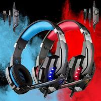 Wholesale GlobalCrown G9000 Stereo Gaming Headset Over Ear Headphones with Noise Cancelling Mic LED Lights from china suppliers