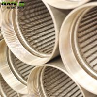 Wholesale Rod Based Continuous Slot Johnson Wire Wrapped Screen Tube/Wedge Wire Screen Pipe from china suppliers
