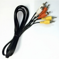 Wholesale 3RCA-3RCA Male AV Cable Video and Audio Data Communication Cable 1.5meter from china suppliers