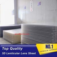 Wholesale 75LPI 0.6MM 3D Lenticular Sheet materials Plastic Material Film Lenticular for UV offset printing from china suppliers