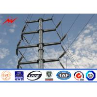 Buy cheap AWS D1.1 Hot Dip Galvanized Power Transmission Poles For Electrical Line Project from wholesalers