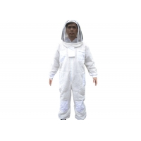 Wholesale Three Layer vantilated beekeeping suit with white color from china suppliers
