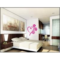 Wholesale Heart Shape Flower Nature Wall Decals With Light Color For Living Room 1m x 1m from china suppliers