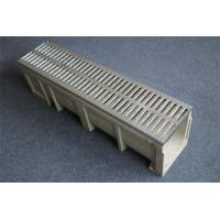 Wholesale U shape linear drainage trench/ditch system with grills/ poly trench drain from china suppliers