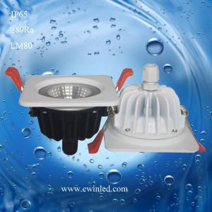 China 10W Waterproof/ bathroom IP65 10W interchangable bezel fire rated LED downlight on sale