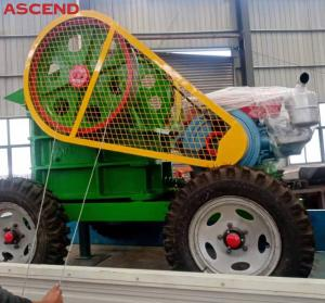 Wholesale Mobile portable diesel engine PE250x400  Grinding Stone Jaw Crusher crasher plant from china suppliers