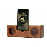 Wholesale Mini Wooden Bluetooth Speaker , 1200mAh Battery Phone Charger Holder from china suppliers