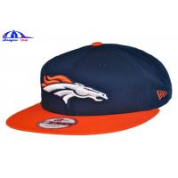 100% Cotton Custom Embroidered Baseball Caps / Baseball Fitted Hats 56 - 60 cm Size