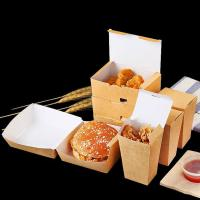 Wholesale Collapsible Fried Chicken Takeaway Boxes Kraft Paper Material Vent Hole Design from china suppliers