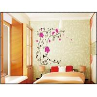 Wholesale Red Flower Vine Interior Nature Wall Decals For Sitting Room , 1.5 x 1.2M from china suppliers