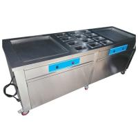 Wholesale Stainless Steel Thailand Fried Ice Cream Machine With Double Square Pans from china suppliers