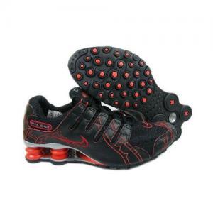 Novel Nike Air Shox NZ Black Silver Red