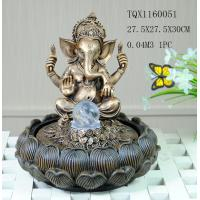 Wholesale Indian Polyresin Water Fountain With Revolving Ball , Electricity Pump Power from china suppliers
