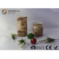 China LED Real Wax Tree Candle With Hemp ,  Carved Craft LED Candle wholesale