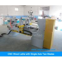 Buy cheap CNC Wood Turning Lathe Machine with One Axis Two Blades and Gymbals Spindle from wholesalers