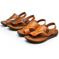 9a3a67d66884fb Wholesale Buckle Strap Genuine Leather Sandals Summer Casual Mens Brown  Beach Sandals from china suppliers