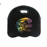 Wholesale low price 6 pack durable printed 4.5mm neoprene wine bottle cooler sleeve carry bag from china suppliers