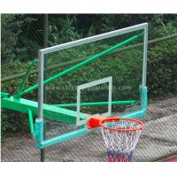Quality Super Toughened Safety Glass Basketball Backboard Wall Mount For Buildings for sale