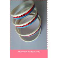 not three layers silicone wristband just print logo
