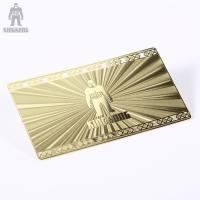 Wholesale Innovative Brass Personal Metallic Gold Business Cards Different Pattern Option from china suppliers
