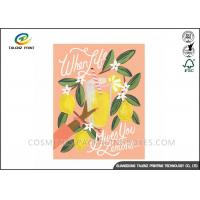 Quality Festival Paper Greeting Cards Eco Friendly Materials For Mothers' Day for sale