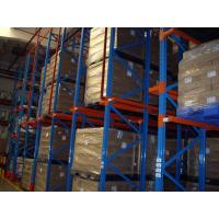 Drive in / through industrial pallet racks , Cold room warehouse pallet shelving