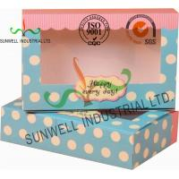 Wholesale UV Coating Paper Egg Tart Take Away Food Packaging Boxes Gold Stamping from china suppliers