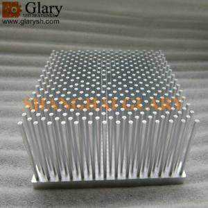 "GLR-PF-125125 4.92"" Square Forging Heatsink, 125mm 50W Pin Fin LED Cooler"