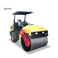 Wholesale 4.5 Ton counstruction yellow hydraulic single drum smooth vibrator road roller compactor from china suppliers