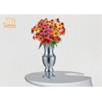 Wholesale Home Decor Trumpet Shaped Fiberglass Planters Table Vases Silver Mosaic Glass Finish from china suppliers