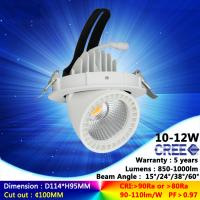 Wholesale 3000K 10W 12W ac230v recessed spotlight cree COB downlight with high quality good price from china suppliers