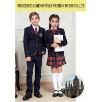 Custom Students School Uniforms Approved SGS 35% Cotton 65