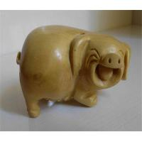Boxwood carved pig of item