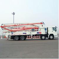 Wholesale Sinotruk HOWO Concrete Pump Truck With 21m Flexible And Efficient Telescopic Boom from china suppliers