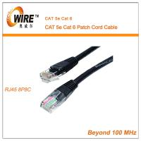 Wholesale Fast Black Utp Cat6 Patch Cord , CCA Conductor 28 Awg Internet Patch Cable from china suppliers
