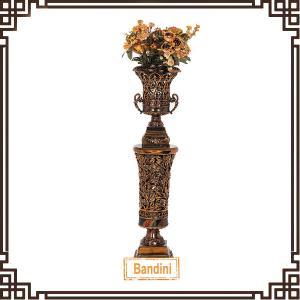 Wholesale Elegant latest new resin tall floor vases Resin Roman column floor vase A0252G-4+8812G-4 from china suppliers