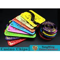 Wholesale Crystal Acrylic Casino Poker Chips With Mesh Bronzing Silk Screen from china suppliers