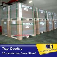 Wholesale The most thinnest PET lenticular sheet len 51x71cm, 0.35mm 3D Lenticular film materials for UV offset print from china suppliers