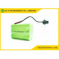Wholesale 7.2V 650mah AAA Nickel Metal Hydride Rechargeable Batteries With Green PVC from china suppliers