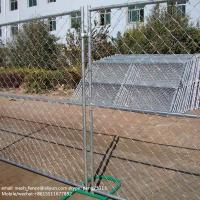 Wholesale 2.1*2.4m diamond mesh chain link fence temporary fencing from china suppliers