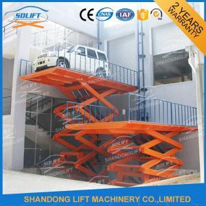 Wholesale Blue High Rise Hydraulic Scissor Car Lift Scissor Car Parking Basement Lift from china suppliers