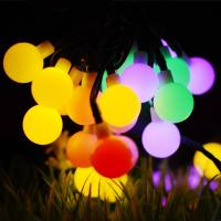 Wholesale 50LED 8Mode Ball Solar Christmas String Lights, Solar Powered Patio String Lights for Home Garden Lawn Party Decorations from china suppliers